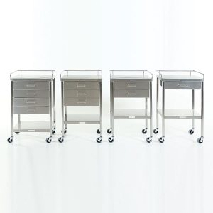stainless steel utility tables also known as prep tables used in medical facilities
