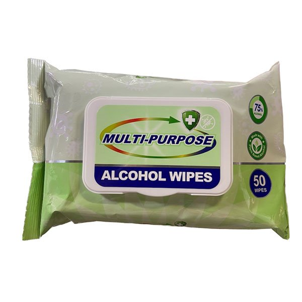 50 ct pack of alcohol wipes