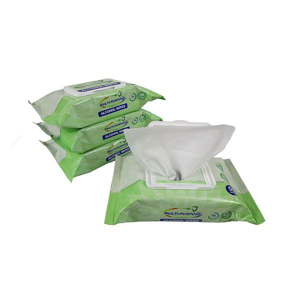 pulled out alcohol cleaning wipes