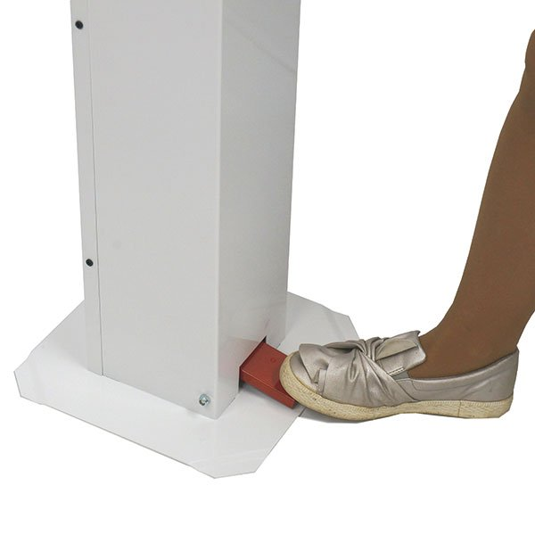 foot pedal of hand sanitizer stand